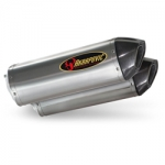 Akrapovic Side view Titianum with carbon end cap