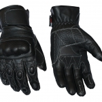 Full Leather short riding gloves