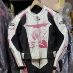 GPI leather race suit ladies pink