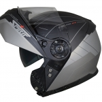 Spirit STR Flip Up Helmet black silver open