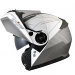 Spirit STR Flip Up Helmet white grey open