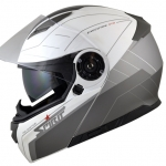 Spirit STR Flip Up Helmet white grey side